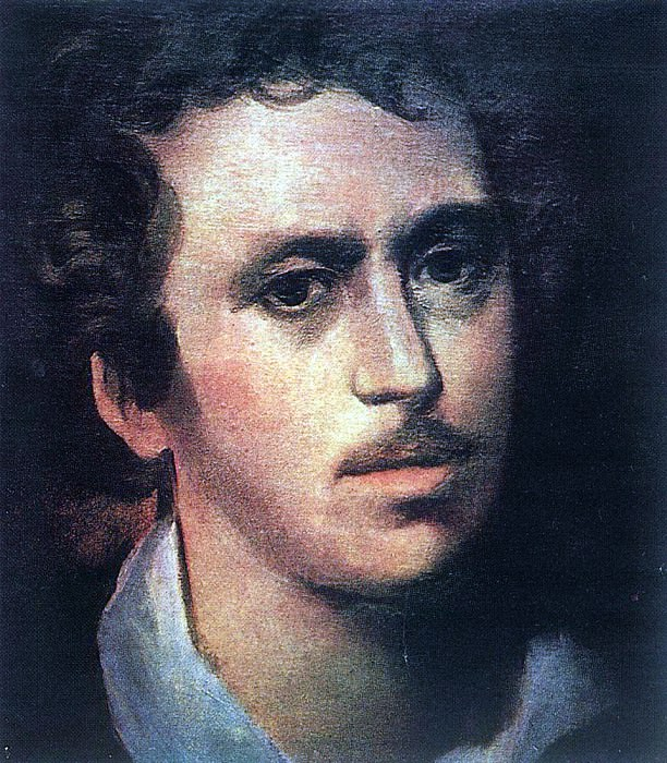 Self-portrait. 1823. Karl Pavlovich Bryullov