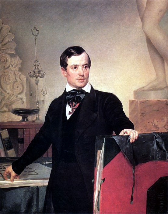 Portrait of the architect and artist Alexander Briullov. Not later than 1841. Karl Pavlovich Bryullov