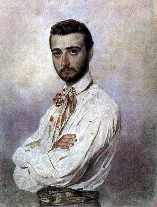 Portrait of Vincenzo Titton. 1850-1852. Karl Pavlovich Bryullov