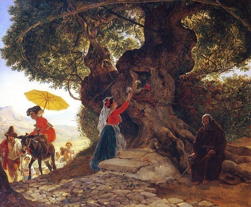 At the Bogoroditsky oak. Karl Pavlovich Bryullov