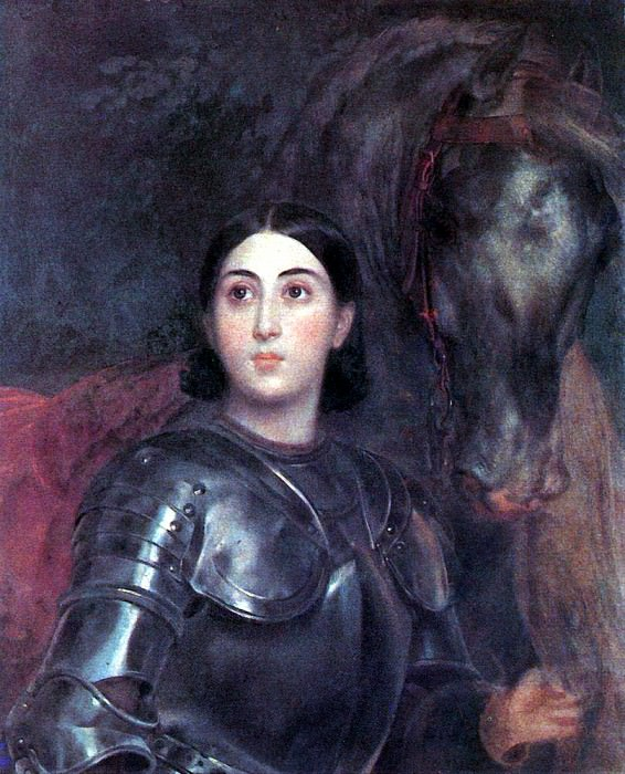 Portrait of Juliet Titton in armor. 1850-1852. Karl Pavlovich Bryullov