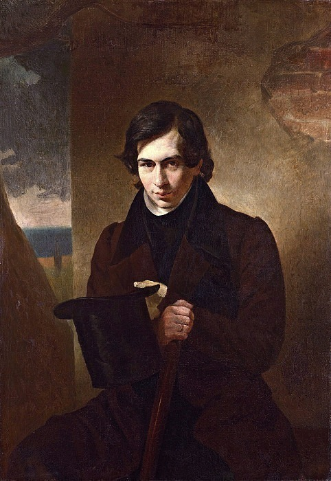 Portrait of the writer NV Kukolnik. Karl Pavlovich Bryullov