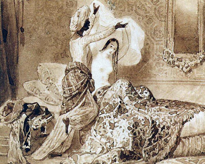 По установлению Аллаха раз в год меняется рубаха 1. 1845. Карл Павлович Брюллов