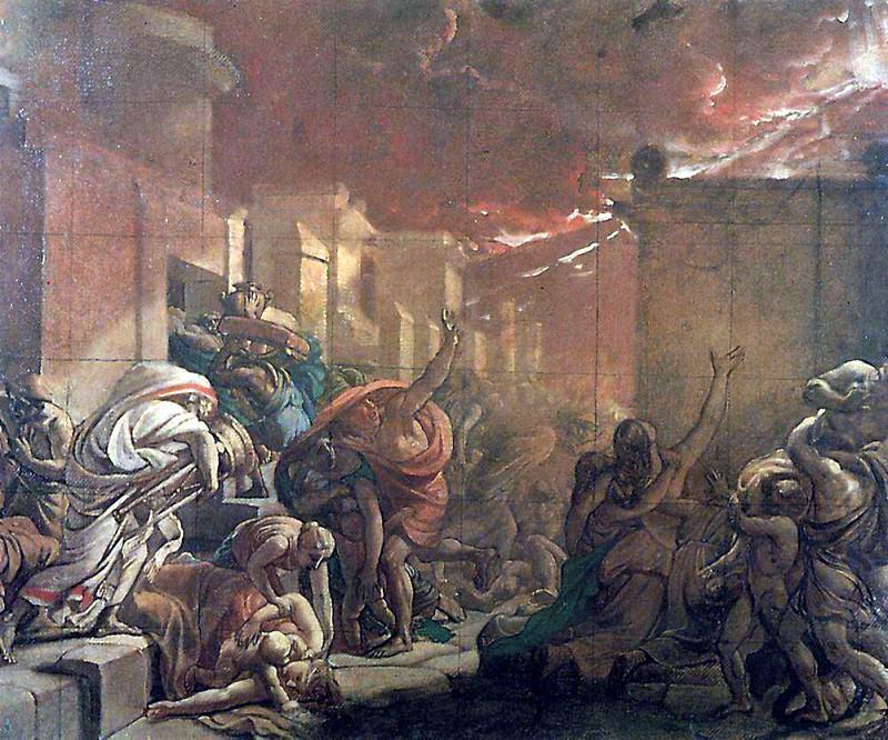 Last Days of Pompeii 1. 1827-1830. Karl Pavlovich Bryullov