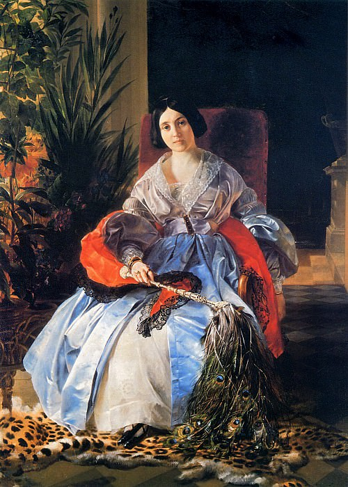 Portrait of the Most Serene Princess Elizabeth Saltykov. 1841. Karl Pavlovich Bryullov