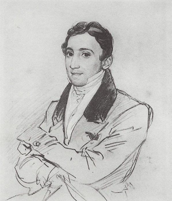 Portrait of Franklin D. Gveratstsi. 1827-1830. Karl Pavlovich Bryullov