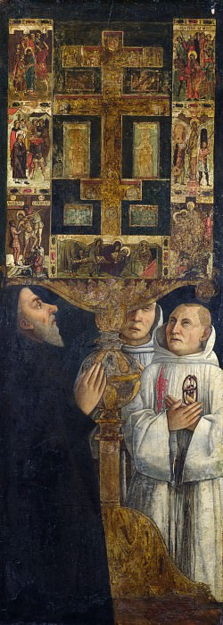 Gentile Bellini - Cardinal Bessarion with the Bessarion Reliquary. Part 3 National Gallery UK