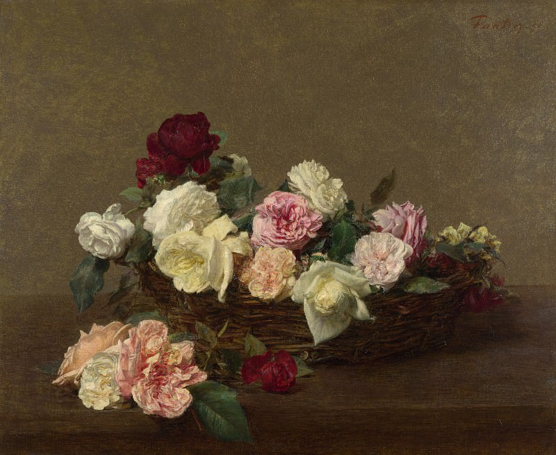 Ignace Henri-Theodore Fantin-Latour - A Basket of Roses. Part 3 National Gallery UK