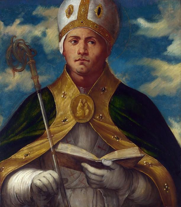 Джироламо Романино - Алтарь из церкви св Александра в Брешии - Святой Гаудиоз. Часть 3 Национальная галерея
