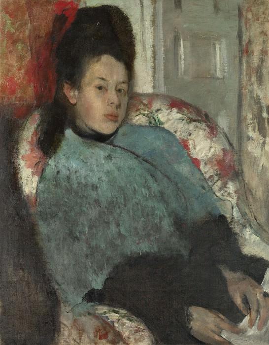 Hilaire Germain-Edgar Degas - Portrait of Elena Carafa. Part 3 National Gallery UK
