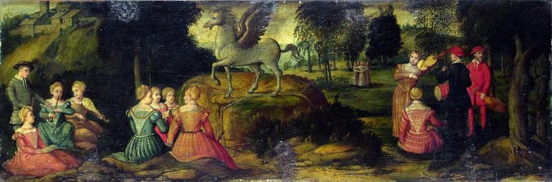 Girolamo Romanino - Pegasus and the Muses. Part 3 National Gallery UK