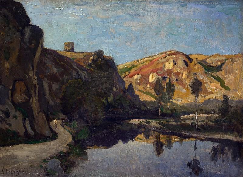 Henri-Joseph Harpignies - River and Hills. Part 3 National Gallery UK