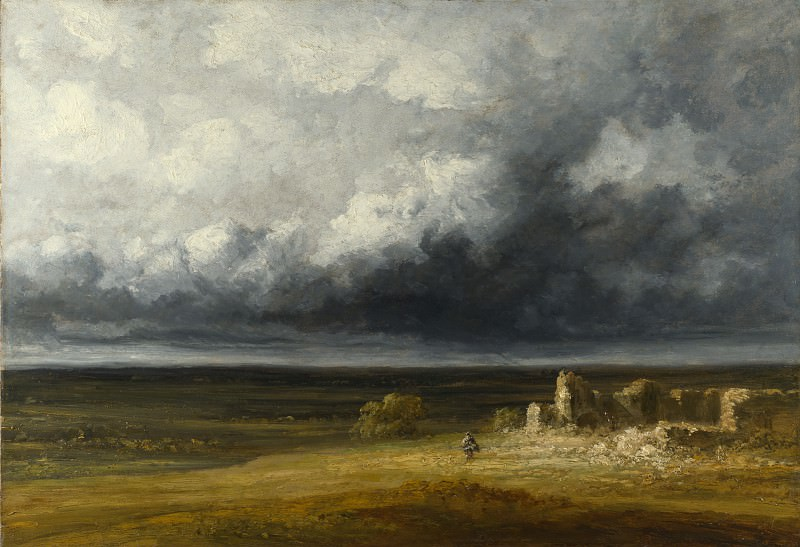 Georges Michel - Stormy Landscape with Ruins on a Plain. Part 3 National Gallery UK