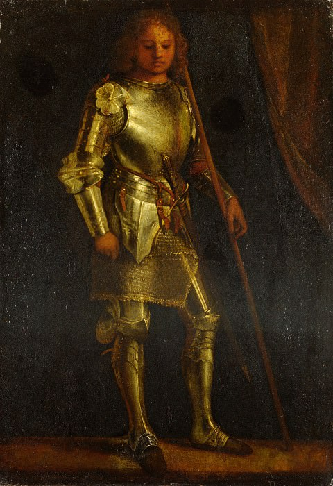 Imitator of Giorgione - A Man in Armour. Part 3 National Gallery UK