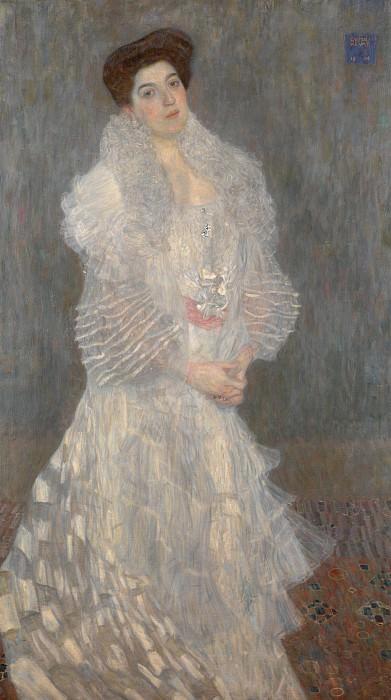 Gustav Klimt - Portrait of Hermine Gallia. Part 3 National Gallery UK