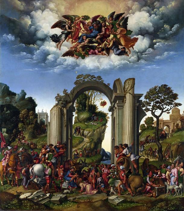 Джироламо да Тревизо - Поклонение волхвов. Часть 3 Национальная галерея
