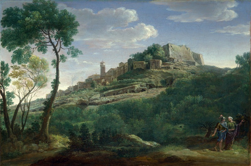 Hendrik Frans van Lint - A Landscape with an Italian Hill Town. Part 3 National Gallery UK