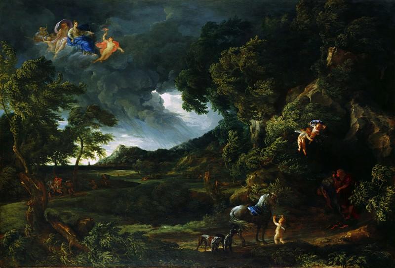 Гаспар Дюге и Карло Маратта - Пейзаж с воссоединением Дидоны и Энея. Часть 3 Национальная галерея