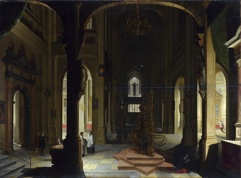 Imitator of Hendrick van Steenwyck the Younger - Interior of a Church at Night. Part 3 National Gallery UK