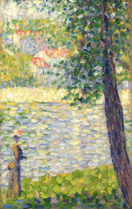 Georges Seurat - The Morning Walk. Part 3 National Gallery UK