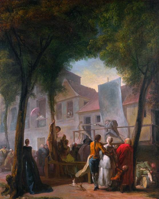 Габриэль-Жак де Сен-Обен - Уличное представление в Париже. Часть 3 Национальная галерея
