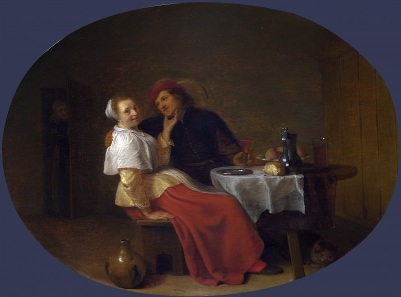 Hendrick Sorgh - Two Lovers at Table. Part 3 National Gallery UK