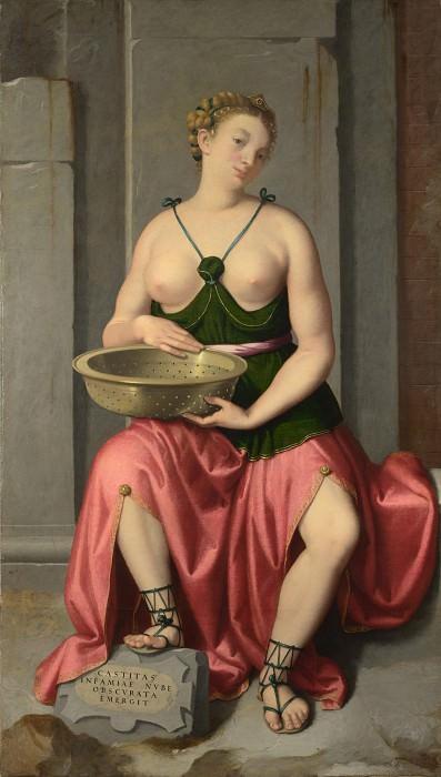 Giovanni Battista Moroni - The Vestal Virgin Tuccia. Part 3 National Gallery UK