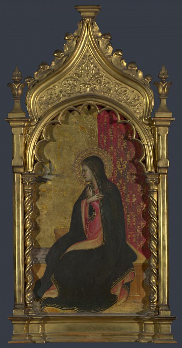 Giovanni dal Ponte - The Virgin Annunciate - Right Pinnacle. Part 3 National Gallery UK
