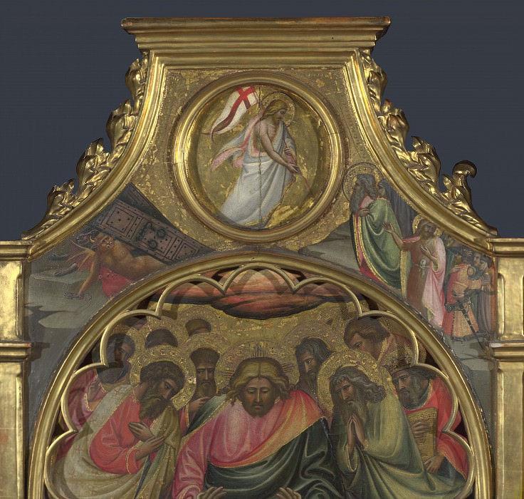 Giovanni dal Ponte - The Descent into Limbo - Roundel above Centre Panel. Part 3 National Gallery UK