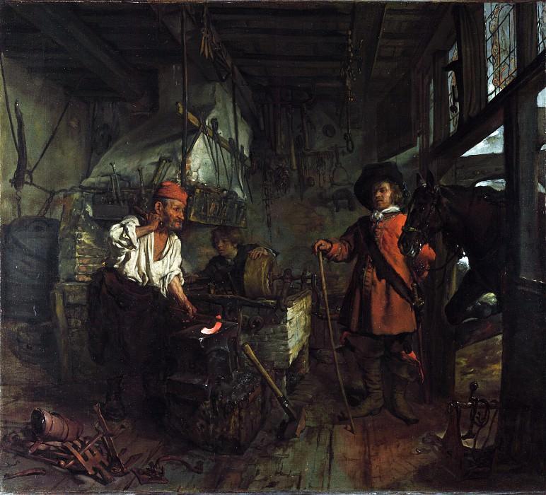 Габриэль Метсю - Интерьер кузницы. Часть 3 Национальная галерея