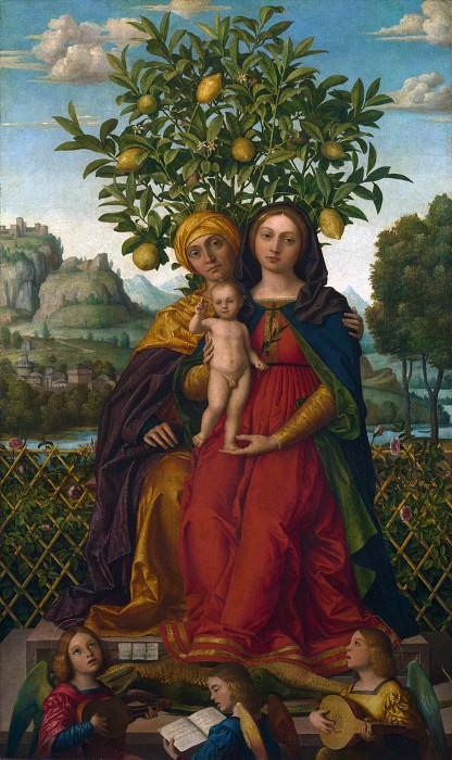 Джироламо даи Либри - Мадонна с Младенцем и святой Анной. Часть 3 Национальная галерея
