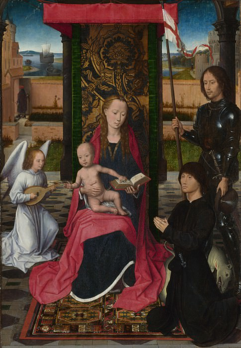 Hans Memling - The Virgin and Child with an Angel. Part 3 National Gallery UK