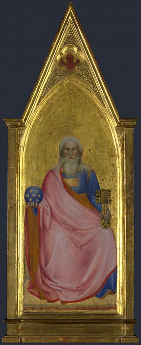 Giovanni da Milano - Christ of the Apocalypse - Central Pinnacle Panel. Part 3 National Gallery UK