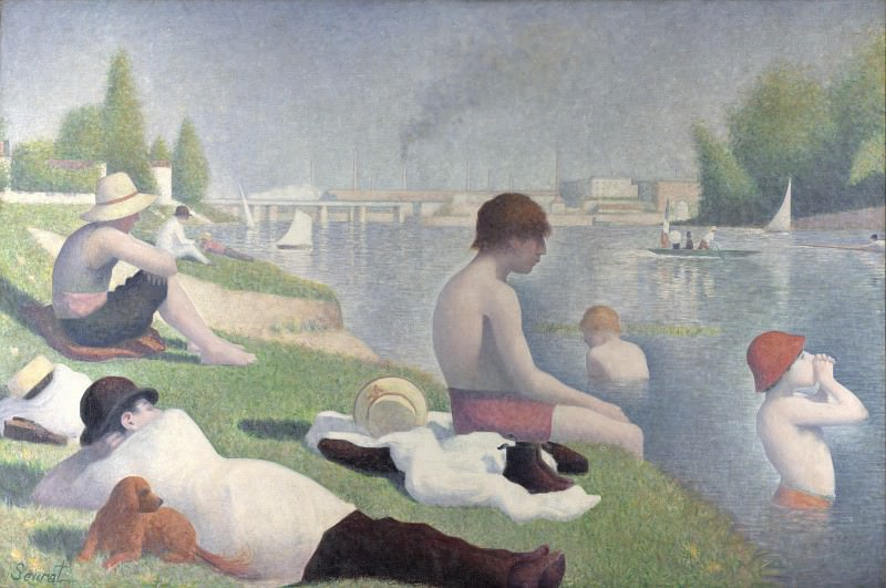 Georges Seurat - Bathers at Asnieres. Part 3 National Gallery UK