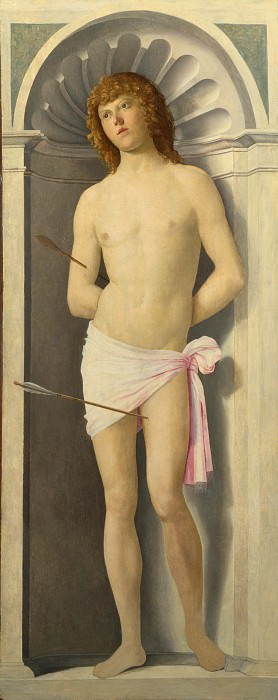 Giovanni Battista Cima da Conegliano - Saint Sebastian. Part 3 National Gallery UK