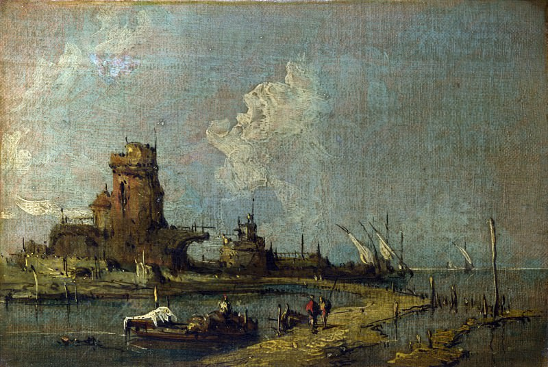 Imitator of Francesco Guardi - A Ruin Caprice. Part 3 National Gallery UK