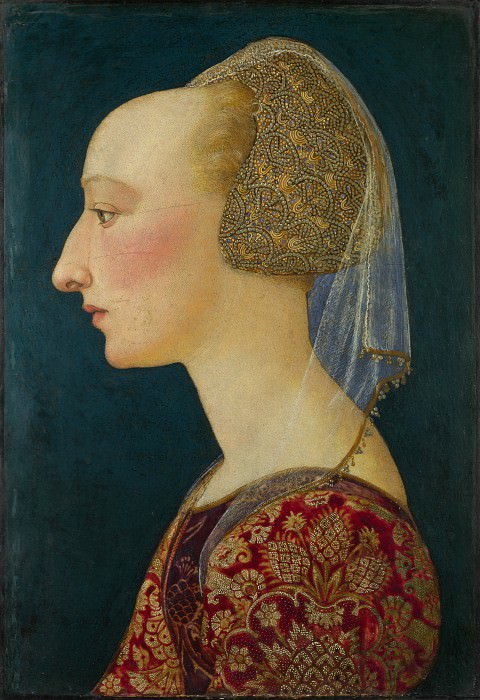 Italian, Florentine - Portrait of a Lady in Red. Part 3 National Gallery UK