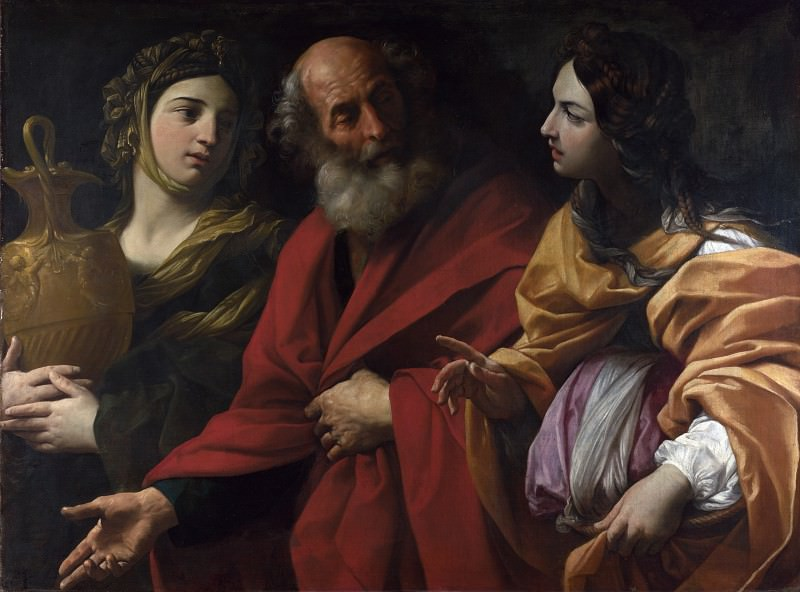 Lot and his Daughters leaving Sodom. Guido Reni