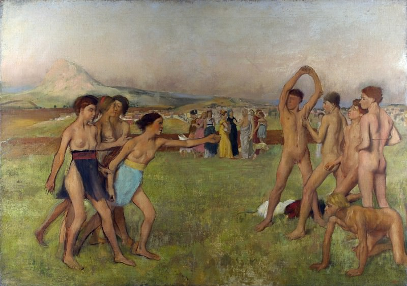 Hilaire Germain-Edgar Degas - Young Spartans Exercising. Part 3 National Gallery UK
