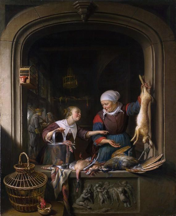 Gerrit Dou - A Poulterers Shop. Part 3 National Gallery UK