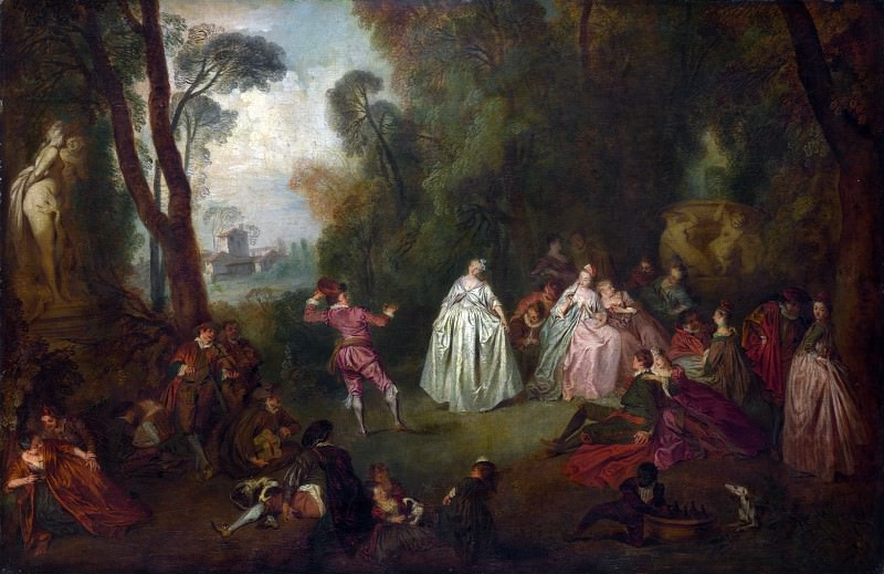 Imitator of Jean-Baptiste Pater - The Dance. Part 3 National Gallery UK
