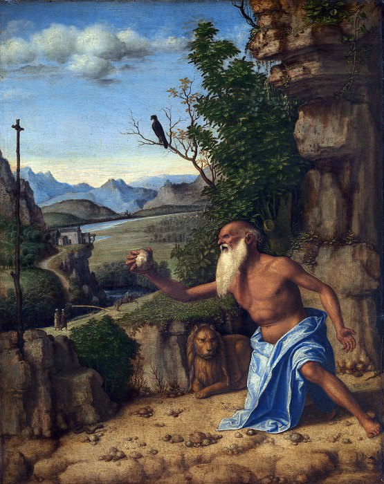 Giovanni Battista Cima da Conegliano - Saint Jerome in a Landscape. Part 3 National Gallery UK
