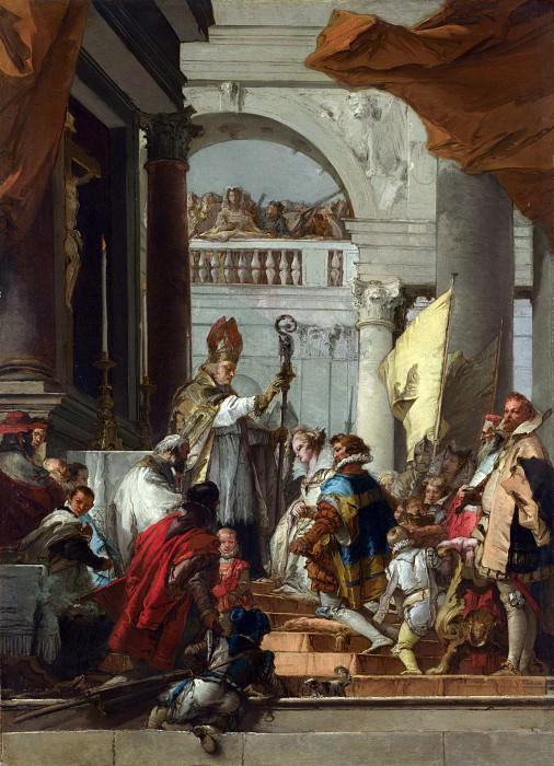 Giovanni Domenico Tiepolo - The Marriage of Frederick Barbarossa. Part 3 National Gallery UK