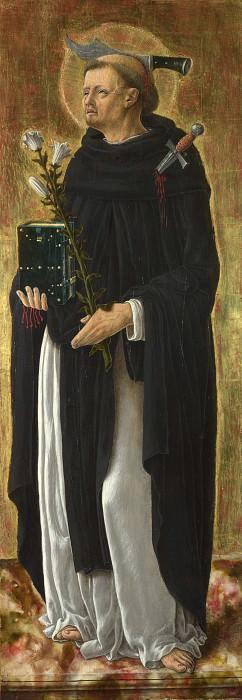 Giorgio Schiavone - Saint Peter Martyr. Part 3 National Gallery UK