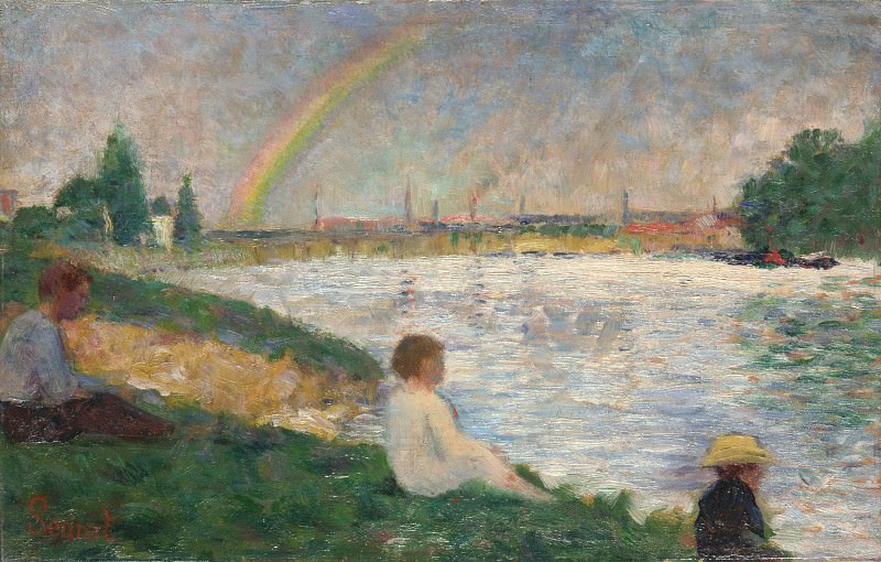 Georges Seurat - The Rainbow - Study for Bathers at Asnieres. Part 3 National Gallery UK