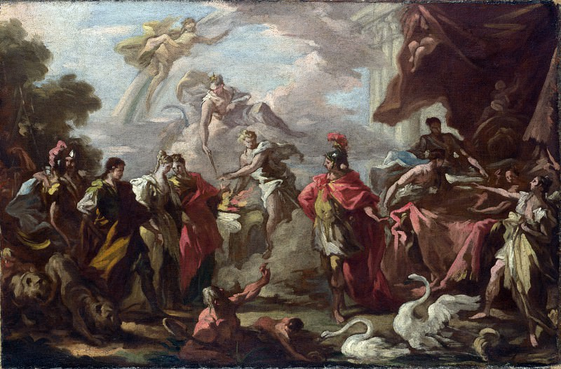 Giovanni Antonio Pellegrini - An Allegory of the Marriage of the Elector Palatine. Part 3 National Gallery UK