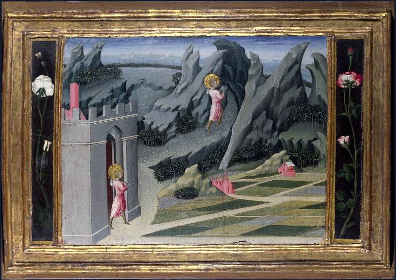 Giovanni di Paolo - Saint John the Baptist retiring to the Desert. Part 3 National Gallery UK