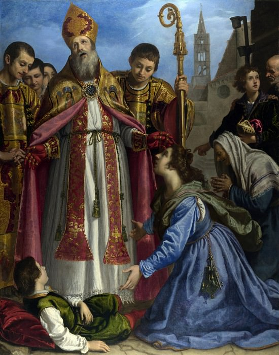 Giovanni Bilivert - Saint Zenobius revives a Dead Boy. Part 3 National Gallery UK