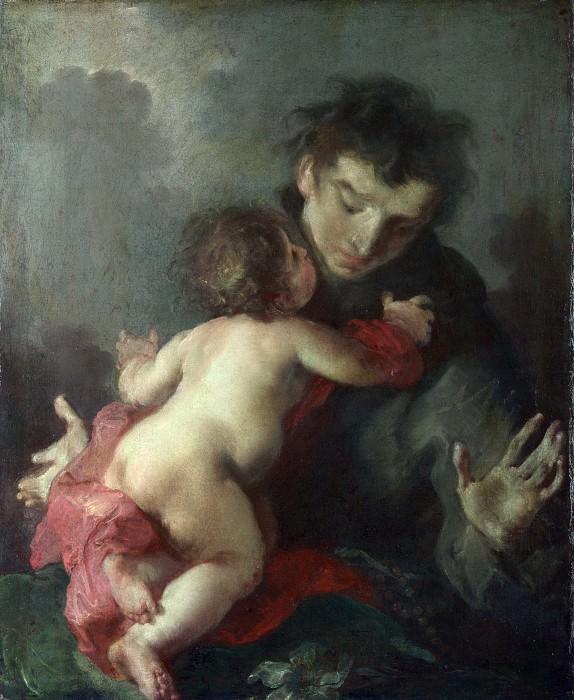 Джузеппе Баццани - Святой Антоний Падуанский с Младенцем Христом. Часть 3 Национальная галерея