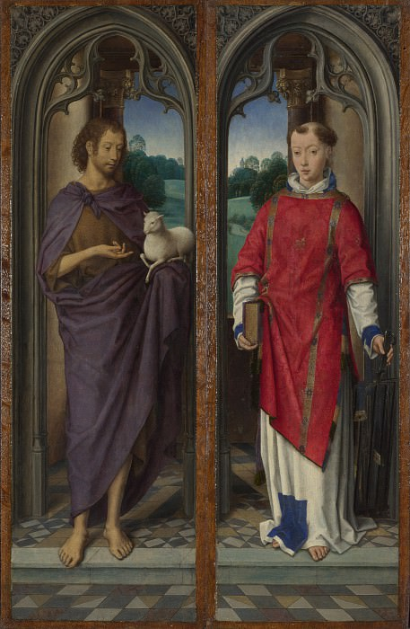 Hans Memling - Two Panels from a Triptych. Part 3 National Gallery UK